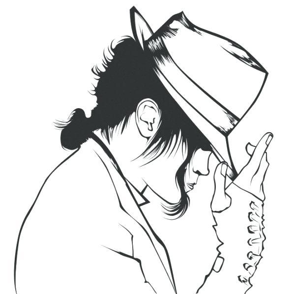 600x598 Michael Jackson Coloring