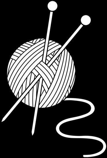 373x550 yarn clipart black and white design knitting yarn