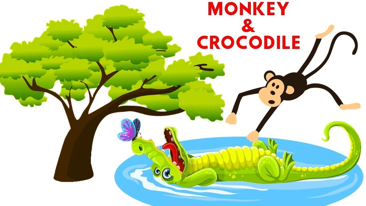 1280x720 story drawing monkey and crocodile story kids bedtime story