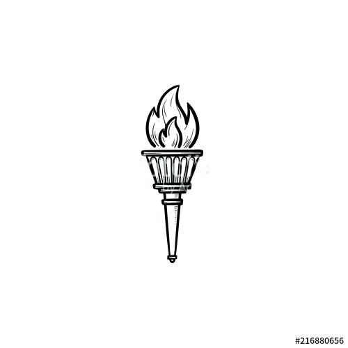 500x500 olympic torch drawing torch poster olympic torch drawing images