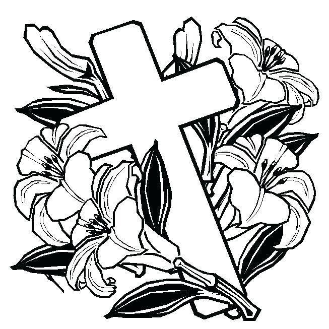 653x653 hearts and crosses coloring pages crosses with roses coloring
