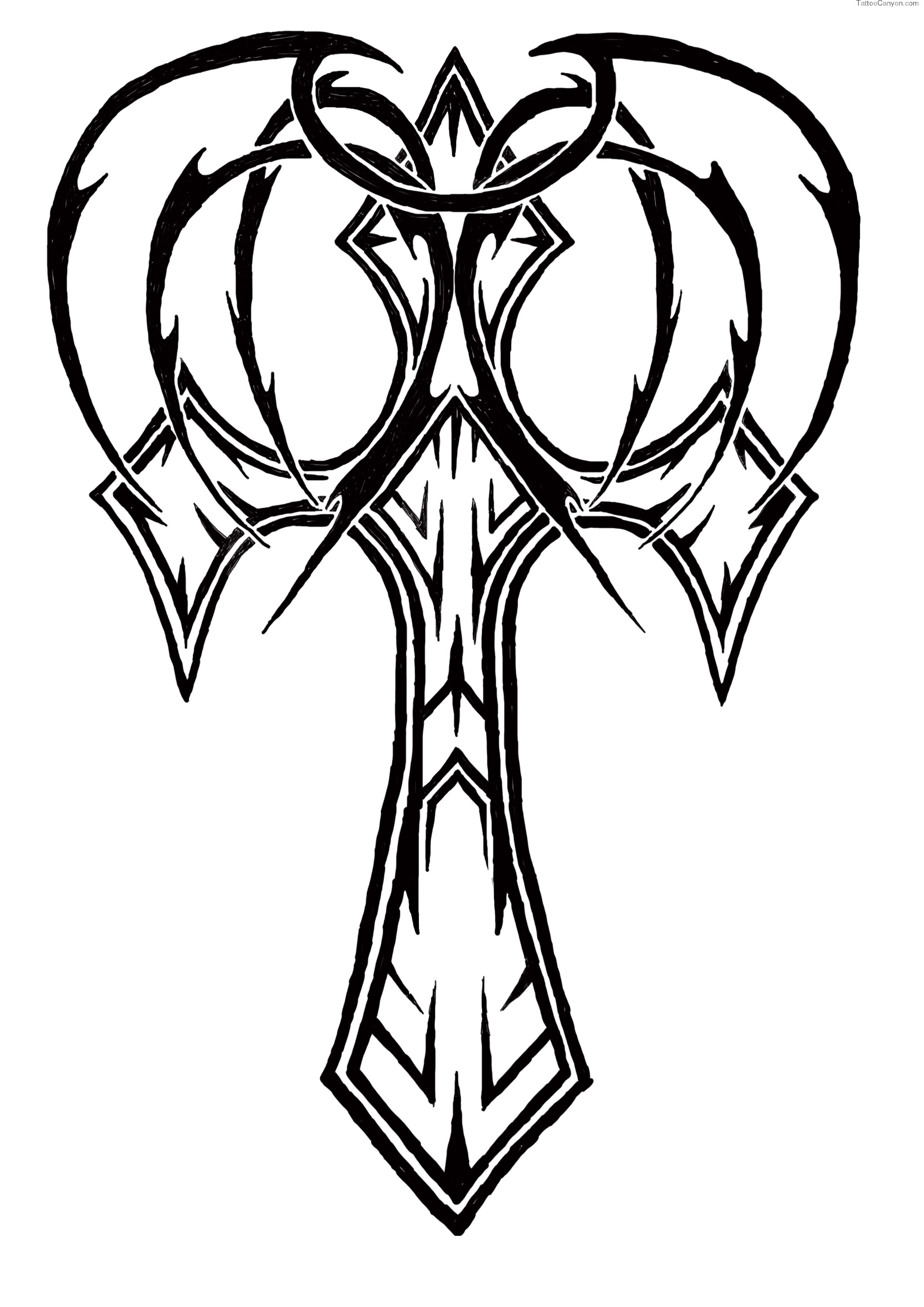 2480x3508 D Cross Drawing At Com Free For Personal Use On Cross Tattoos