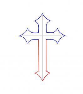 264x302 Draw A Cross Tattoo, Step