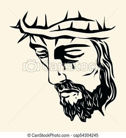 430x470 Jesus Face Drawing Framed Print Featuring