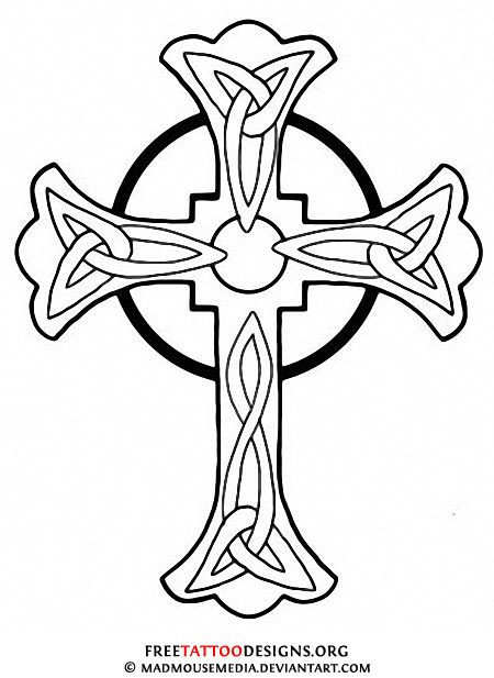 450x617 Patterns Tattoo Cross Iron