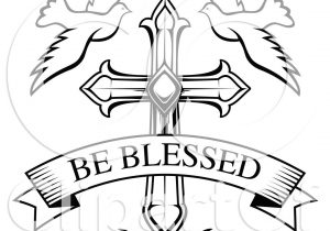 300x210 black and white cross drawings drawing christian cross clip art
