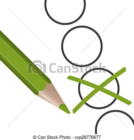 450x470 Green Pen With Cross For Election Symbolism