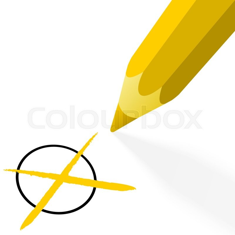 800x800 Illustration Of Pencil Colored Yellow Stock Vector Colourbox