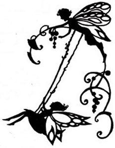 232x300 Fairy On Swing Silhouette Handmade Digital Counted Cross Stitch