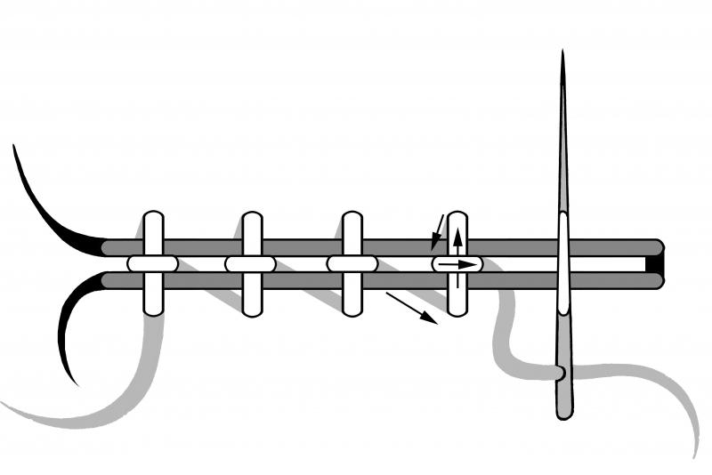 800x534 Horizontal Cross Stitch Couching