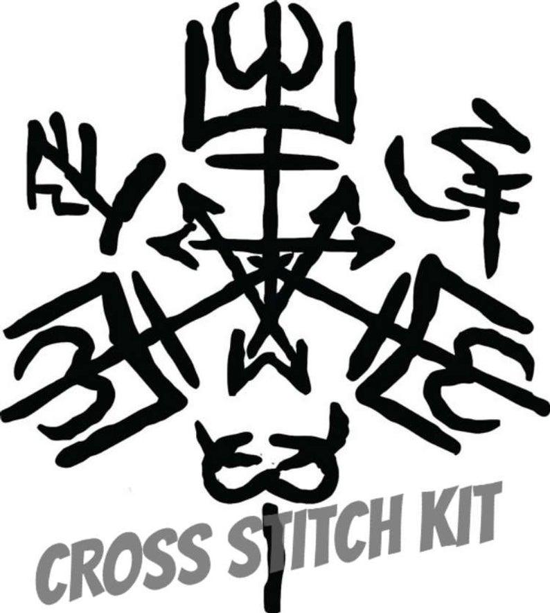 794x885 Purgatorio Symbol Cross Stitch Kit Etsy