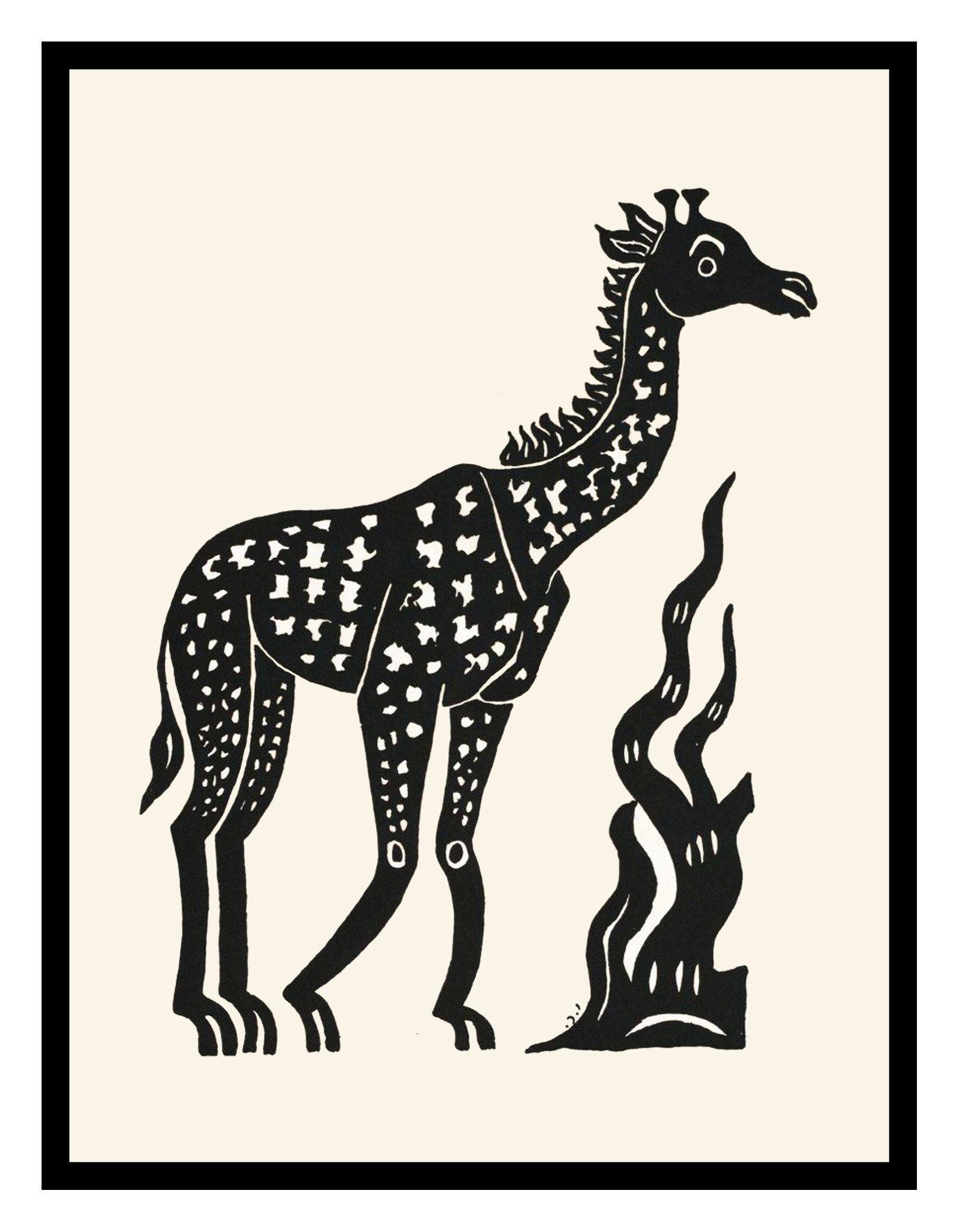1594x2048 Russian Folk Art Animal Giraffe