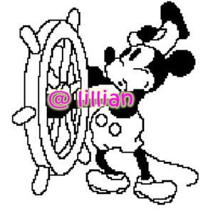 292x300 Steamboat Willie Whistle Cruising Cross Stitch Pattern Ebay