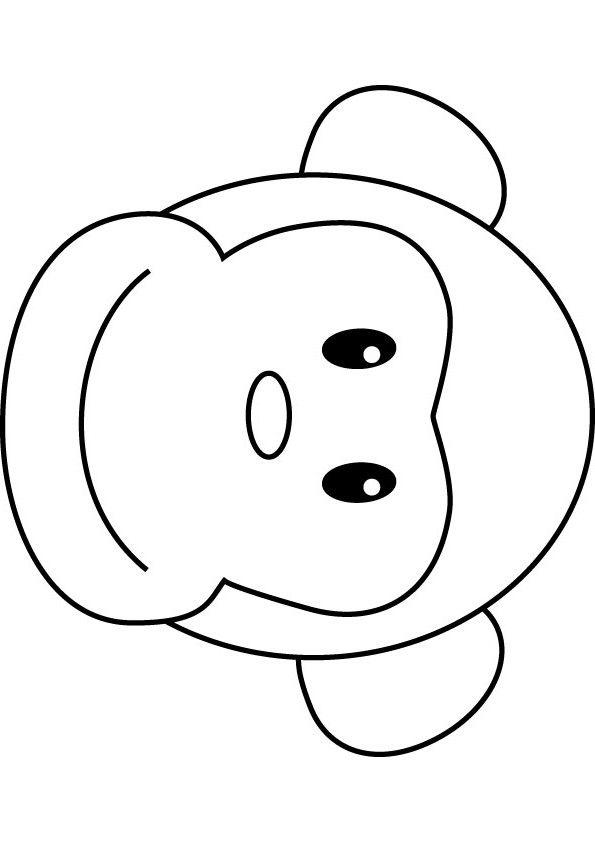 595x842 Monkey Face Drawing Monkeys Drawings Bongo Monkey Coloring Drawing