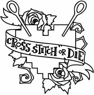300x304 Cross Stitch Or Die Urban Threads Unique And Awesome Embroidery