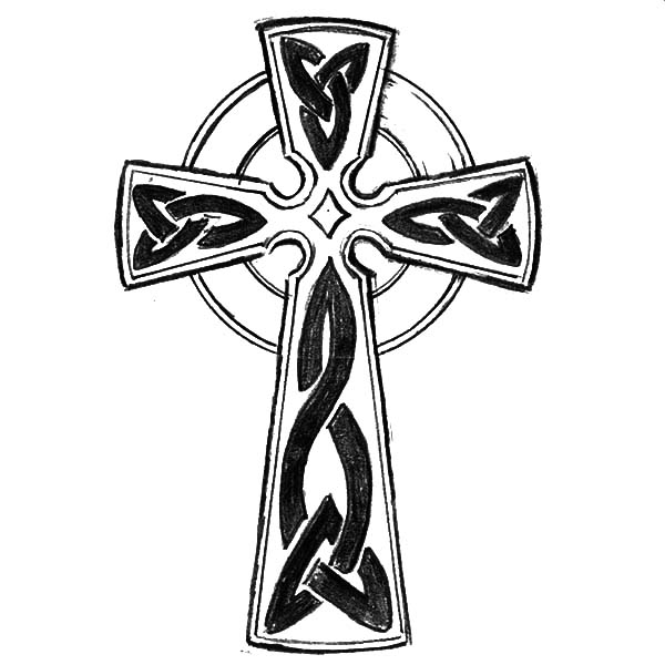 600x600 Celtic Cross Tattoo Art Coloring Pages Best Place To Color