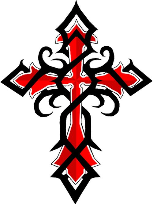 500x665 Cool Tribal Cross Tattoos Black Red Celtic Cross Tattoos Cvcaz