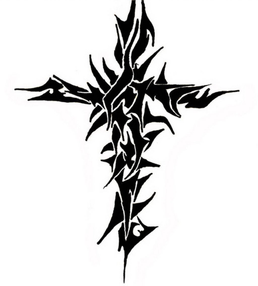 1024x1137 The Most Punchy Tribal Cross Tattoos Ideas Rws