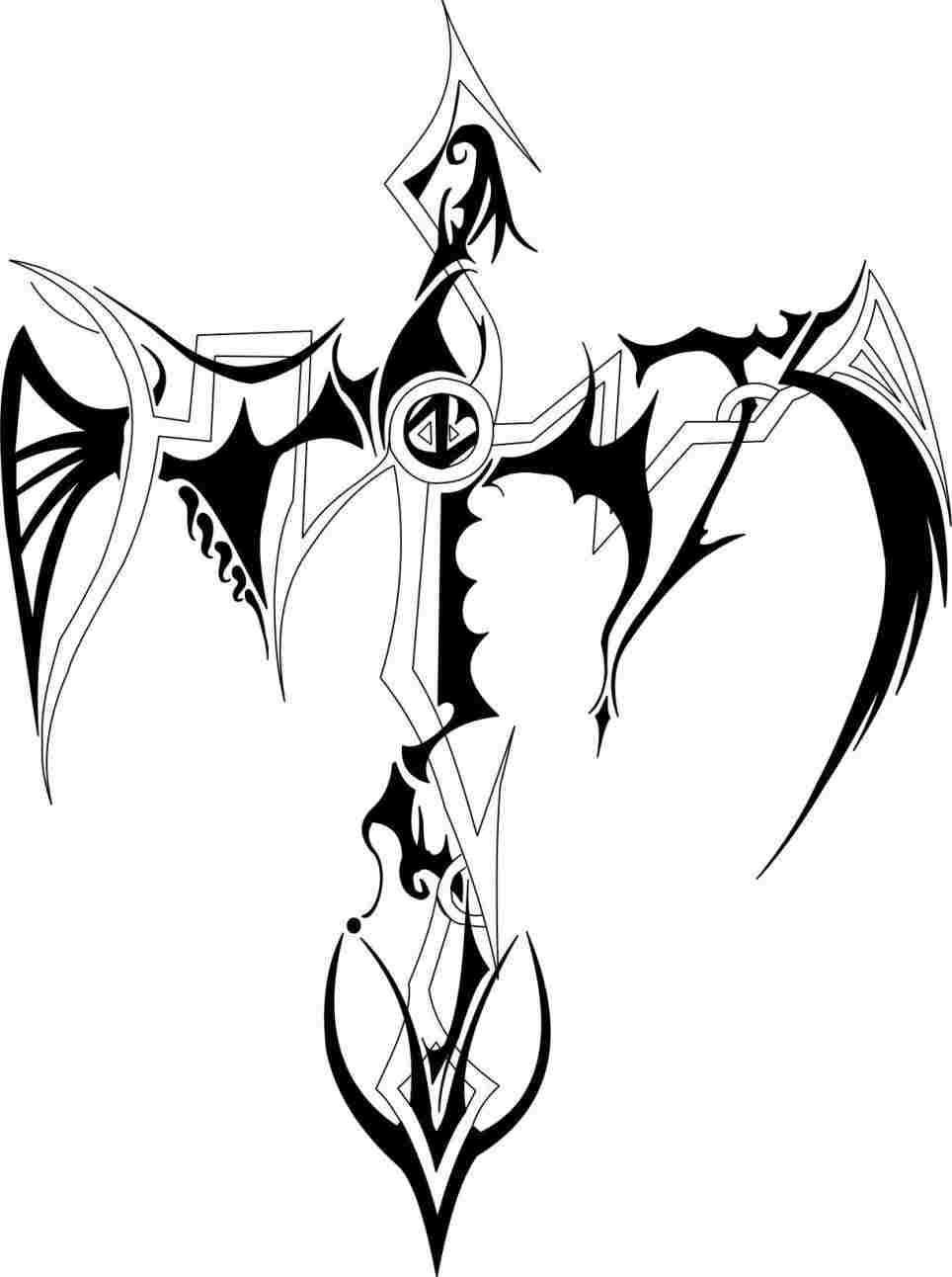 964x1292 Cross Tattoo Drawings In Pencil