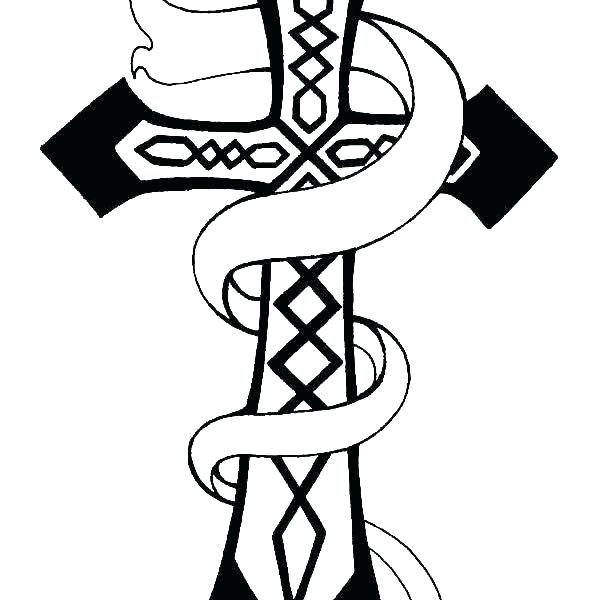 Coloring Pages Of Crosses And Roses