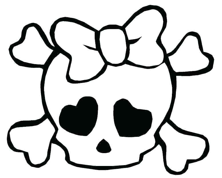 776x622 Skull And Bones Coloring Pages Medium Size Of Coloring Pages Skull