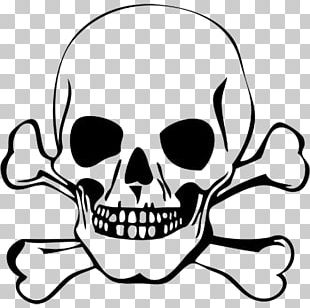 310x308 Skull And Crossbones Drawing Png, Clipart, Area, Black And White