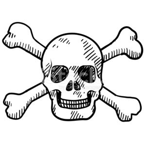 300x300 Cartoon Skull And Crossbones Sketch Stock Vectors
