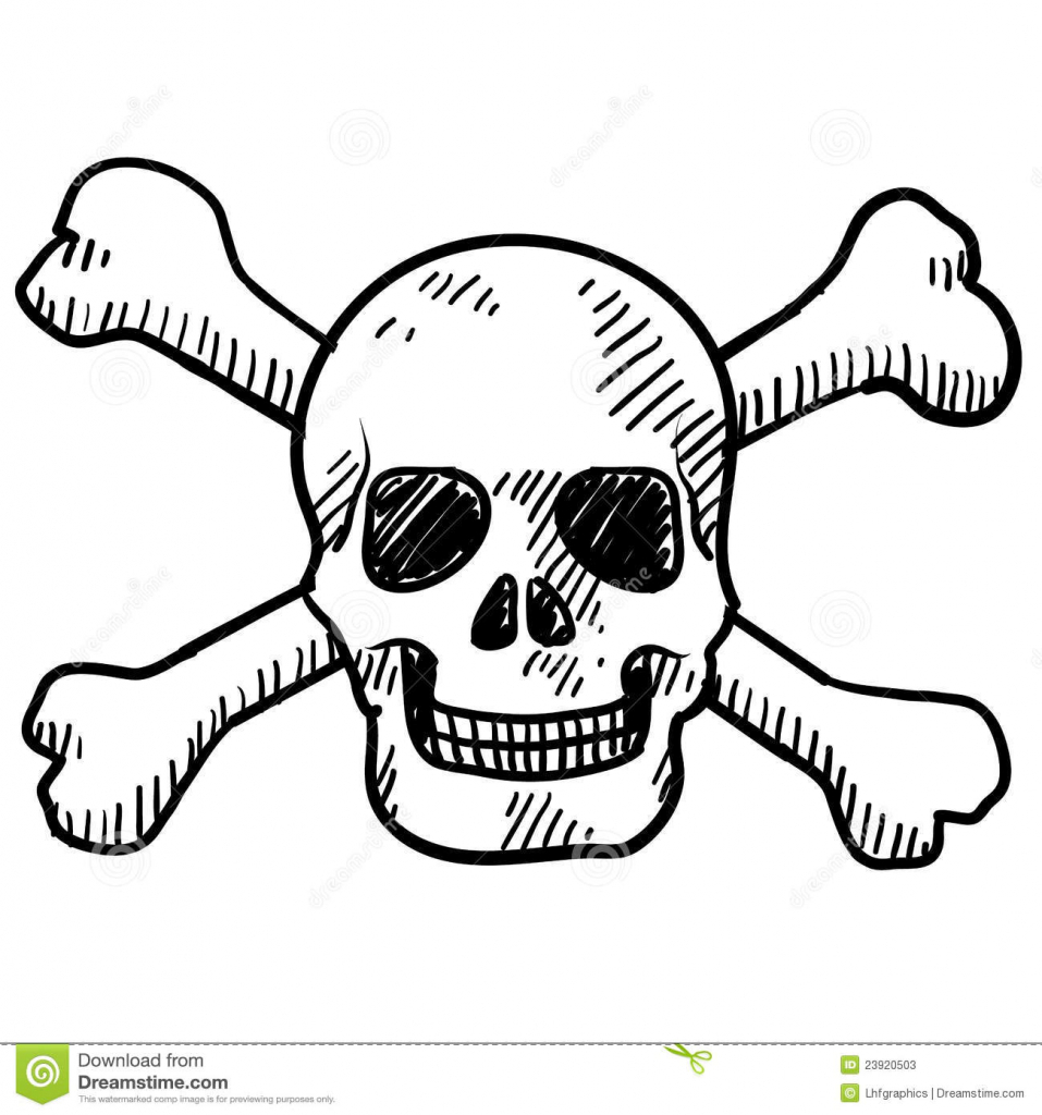 957x1024 Crossbones Clipart Skull Drawing, Picture