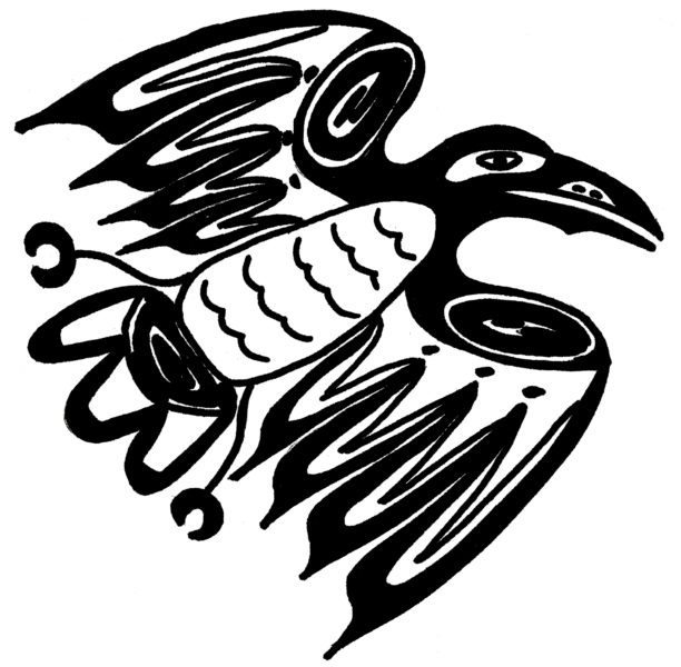 612x600 Crow Drawing Native American For Free Download