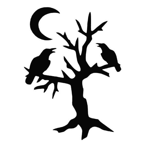600x600 Collection Of Free Crow Drawing Tree Download On Ui Ex