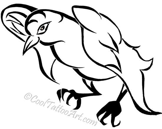 550x439 Free Crow Tattoos Art Designs Cooltattooarts