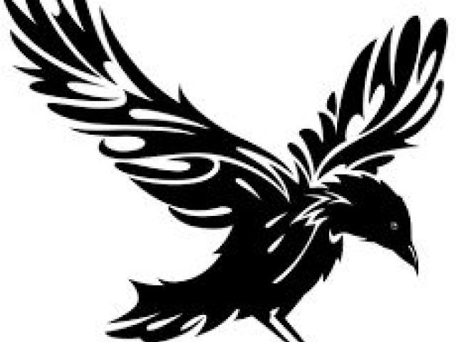 640x480 Tribal Crow Tattoo Designs