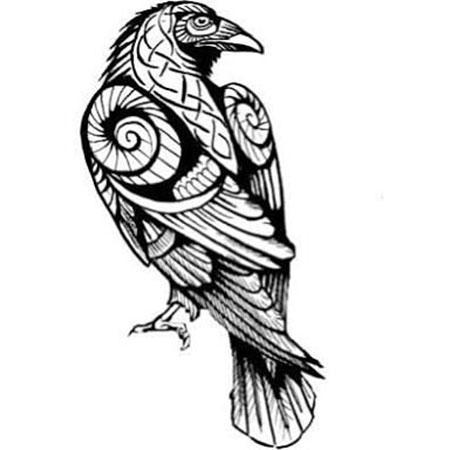 450x450 Crow Tattoo Designs