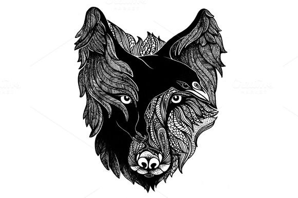 580x386 Wolf And Raven