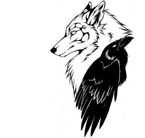 511x486 Yet Another Flying Crow Tattoo Design Tattoo Ideas