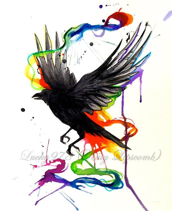 600x739 Creative Crow Tattoo Ideas Will Make You Surprise Picsmine