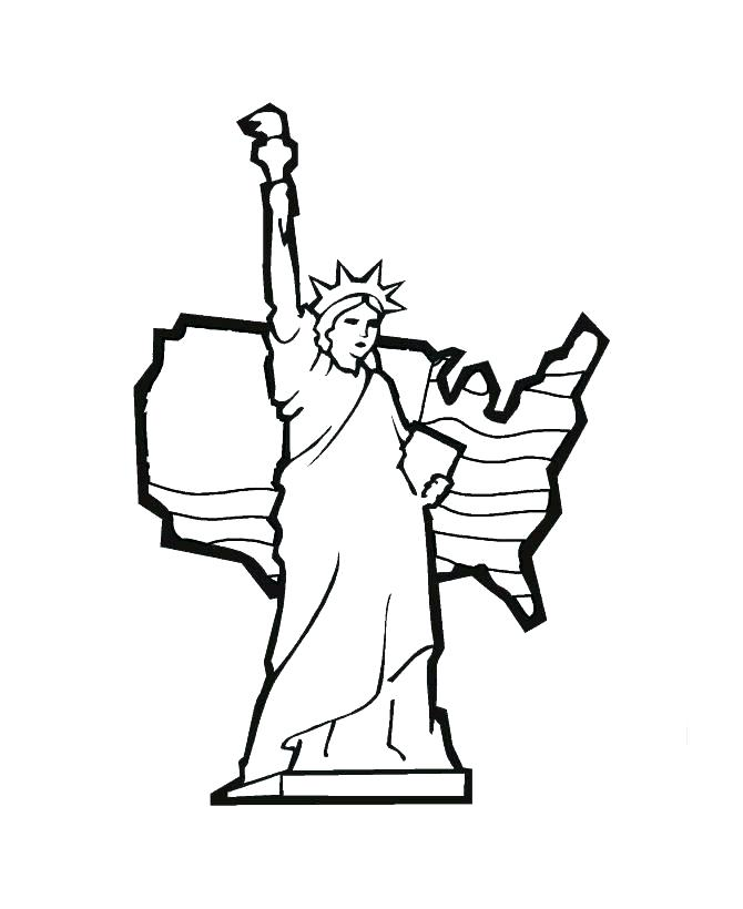 670x820 Easy To Draw Statue Of Liberty Statue Of Liberty Crown Coloring