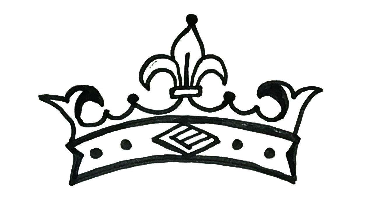 1280x720 How To Draw A Crown Easy Step