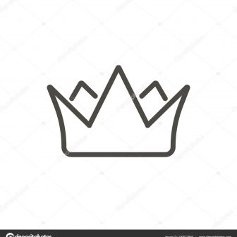 336x336 Crown Drawing King Cute Simple A Black And White Outline Angel I