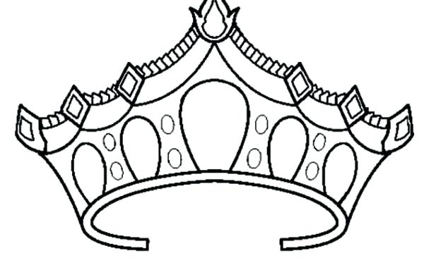 600x383 Princess Crown Drawing Tiara Outline Template Specialization C