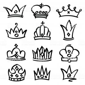 300x300 Best Princess Crown Drawing Vector Drawing Soidergi