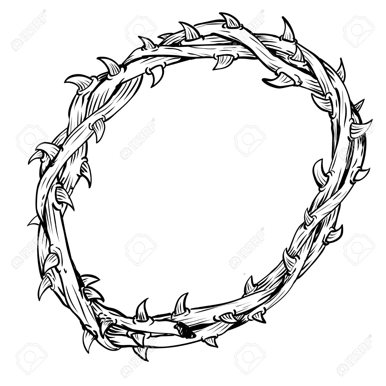 1300x1300 Collection Of Free Of Thorns Clipart Drawing Amusement Clipart