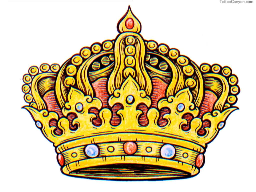 1024x768 King Crown Tattoos Designs