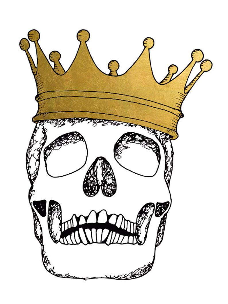 794x1059 Includes Tattoos Skull King Gold Tattoo Temporary Tattoo Etsy