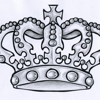 336x336 Crown Drawing King Simple Tattoo Easy Black And White A Flower