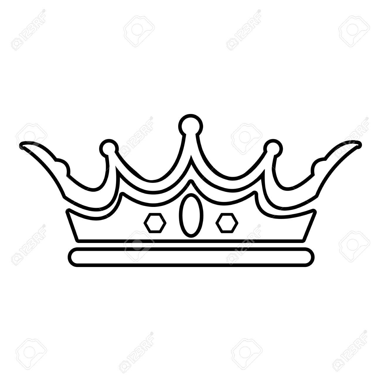 1300x1300 princess crown outline princess crown icon outline