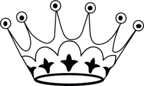 500x300 Images Of Tiara Template For Princess Crown Outline Simple Drawing