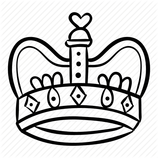 512x512 Royal Drawing King Crown Transparent Png Clipart Free Download