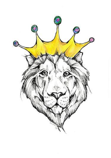 375x530 Royal Lion Drawing