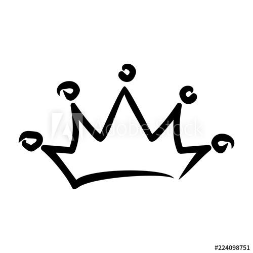 500x500 Royal Crown Drawn